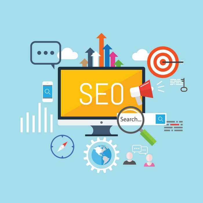 Illustration of the different aspects of SEO